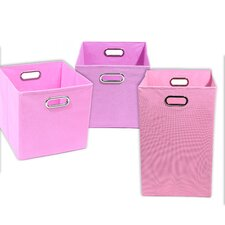 Rose Solid 3 Piece Organization Bundle Set