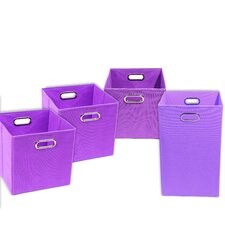 Color Pop Solid 4 Piece Organization Bundle Set