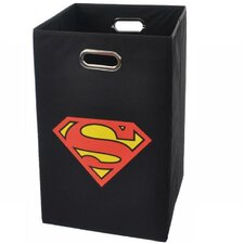 Superman Logo Folding Laundry Basket