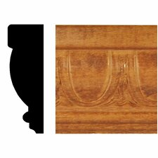 13/16 in. x 2-1/2 in. x 8 ft. Hardwood Stained Cherry Egg and Dart Chair Rail Moulding
