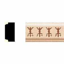 3/8 in. x 3/4 in. x 8 ft. Hardwood Embossed Lizard Shelf Moulding (Set of 3)