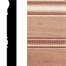 1 in. x 3-1/2 in. x 6 in. Oak Embossed Plinth Moulding (Set of 2)