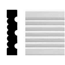 3/4 in. x 3-1/4 in. x 8 ft. MDF Fluted Casing Moulding