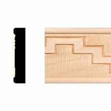 3/8 in. x 1-3/4 in. x 8 ft. Hardwood Embossed Navajo Stairs Panel Moulding