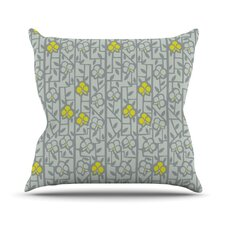 Deco Orchids by Allison Beilke Cotton Throw Pillow