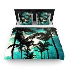 """Palm Trees and Stars"" Woven Comforter Duvet Cover"