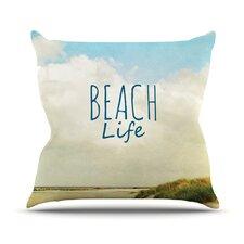 Beach Life by Iris Lehnhardt Beach Cotton Throw Pillow