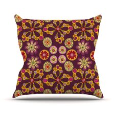 Indian Jewelry Floral by Jane Smith Throw Pillow