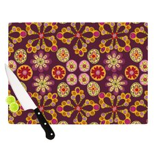 Indian Jewelry Floral by Jane Smith Cutting Board