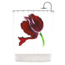 Dark Purple Tulip Shower Curtain