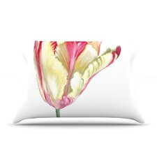 Red Tip Tulip Pillow Case