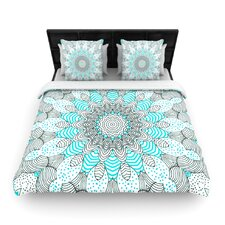 """Dots and Stripes Mint"" Pattern Woven Comforter Duvet Cover"