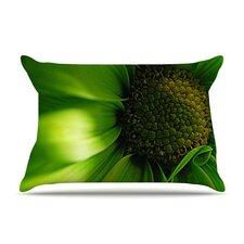 Green Flower Pillow Case