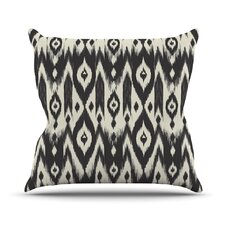 Tribal Ikat Outdoor Throw Pillow