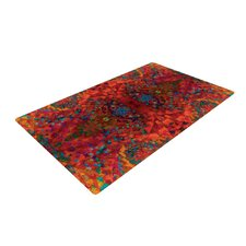 Red Sea Orange Abstract Area Rug