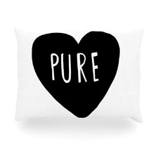 Pure Heart Outdoor Throw Pillow