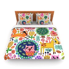 Woodland Critters by Jane Smith Light Duvet Cover