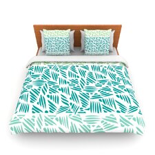 Bamboo by Pom Graphic Woven Duvet Cover