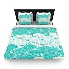 The Calm and Stormy Seas by Pom Graphic Woven Duvet Cover