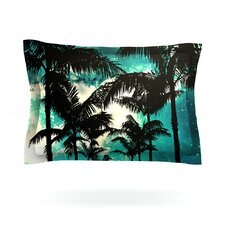 Palm Trees and Stars by Caleb Troy Woven Pillow Sham