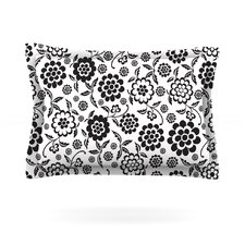 Cherry Floral White by Nicole Ketchum Cotton Pillow Sham