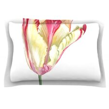 Red Tip Tulip by Lydia Martin Pillow Sham