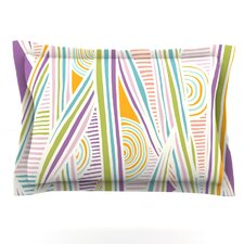 Graphique White by Emine Ortega Cotton Pillow Sham