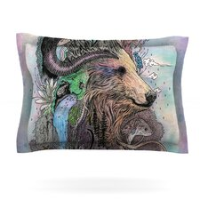 Forest Warden Bear Nature Pillow Sham