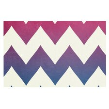 Fade to Blue Chevron Doormat