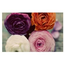 Four Kinds of Beauty Roses Doormat