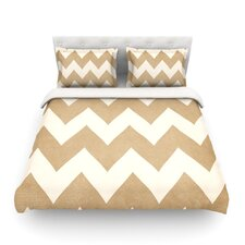 Biscotti and Cream Light by Catherine McDonald Chevron Cotton Duvet Cover