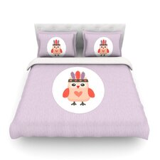 Hipster Owlet by Daisy Beatrice Light Duvet Cover