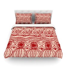 Cranberry and Cream by Catherine Holcombe Light Cotton Duvet Cover