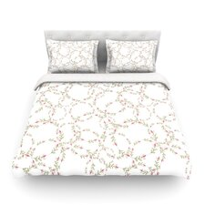 Evergreen Wreaths by Emma Frances Light Cotton Duvet Cover