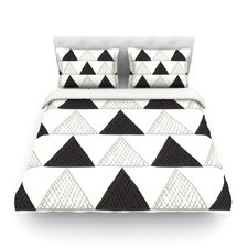 Textured Triangles by Laurie Baars Geometric Abstract Light Duvet Cover