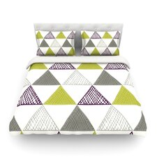 Textured Triangles by Laurie Baars Light Duvet Cover