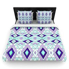Geometric Flow by Pom Graphic Woven Duvet Cover