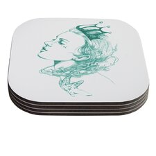 Queen of the Sea by Lydia Martin Coaster (Set of 4)