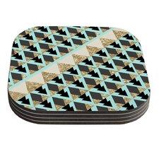 Glitter Triangles by Nika Martinez Coaster (Set of 4)