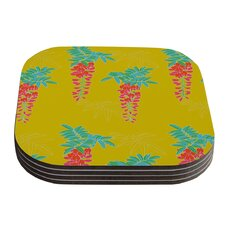 Ipanema by Gukuuki Yellow Coaster (Set of 4)