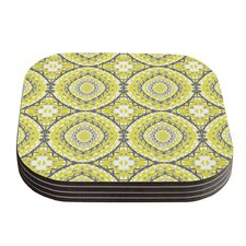 Yellow Tessellation by Miranda Mol Coaster (Set of 4)