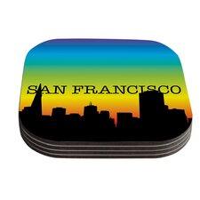 San Francisco Rainbow Coaster (Set of 4)
