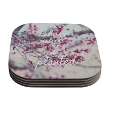 Bloom Pink by Suzanne Carter Coaster (Set of 4)