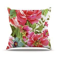 Walk Through The Garden by Heidi Jennings Flowers Cotton Throw Pillow