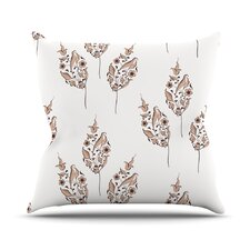Pattern by Louise Flower Throw Pillow