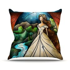 Think Of Me by Mandie Manzano Princess Cotton Throw Pillow