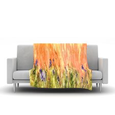 Welcome Spring by Rosie Brown Fleece Throw Blanket