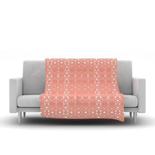 Aztec Roots by Pom Graphic Design Fleece Throw Blanket