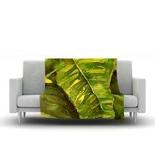 Tropical Garden by Rosie Brown Fleece Throw Blanket