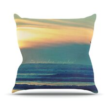 Go Somewhere by Robin Dickinson Cotton Throw Pillow